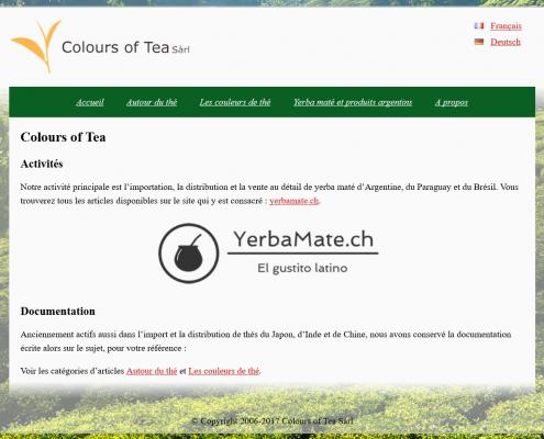Capture d'écran du site colours of tes